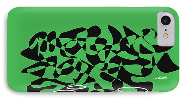 IPhone Case featuring the digital art Timpani In Green by Jazz DaBri