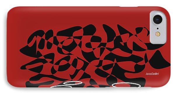 IPhone Case featuring the digital art Timpani In Orange Red by Jazz DaBri