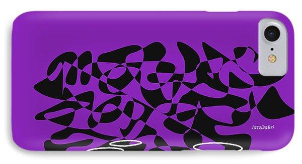 IPhone Case featuring the digital art Timpani In Purple by Jazz DaBri