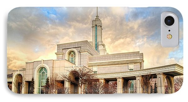 Timpanogos Temple IPhone Case