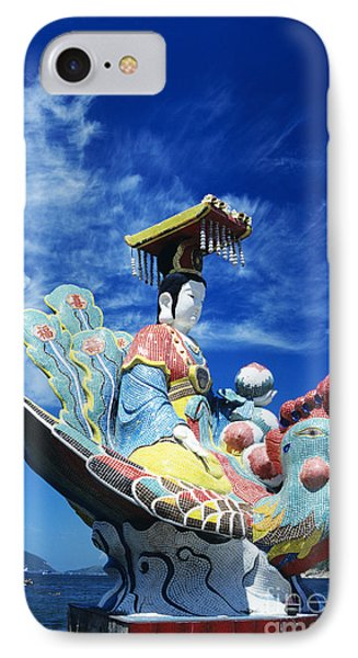 Tin Hua Temple Closeup Of Colorful Statue Phone Case by Gloria and Richard Maschmeyer - Printscapes