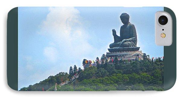 Tin Tan Buddha In Hong Kong IPhone Case