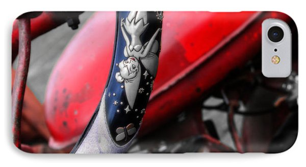 Tinker Bell's Tractor  IPhone Case by Steven Digman