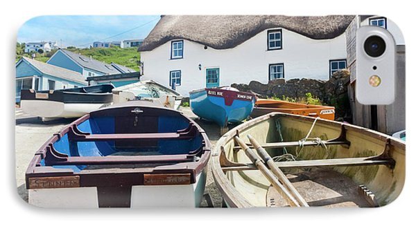 Tinker Taylor Cottage Sennen Cove Cornwall Phone Case by Terri Waters