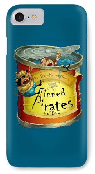 Tinned Pirates Phone Case by Andy Catling
