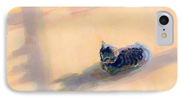 Tiny Kitten Big Dreams Phone Case by Kimberly Santini