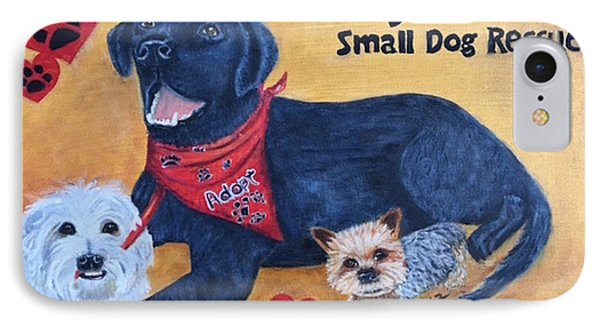 Tiny Paws Small Dog Rescue IPhone Case