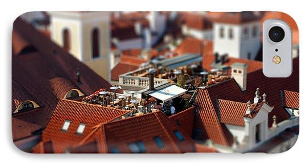 Tiny Roof Restaurant Phone Case by Joerg Lingnau