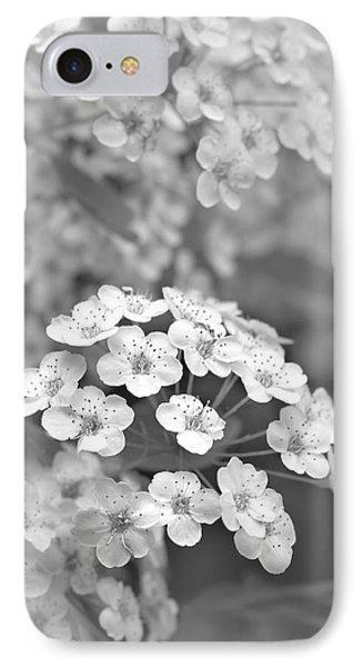Tiny Spirea Flowers Monochrome IPhone Case