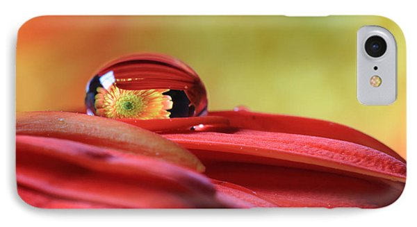 Tiny Water Drop Reflections IPhone Case by Angela Murdock