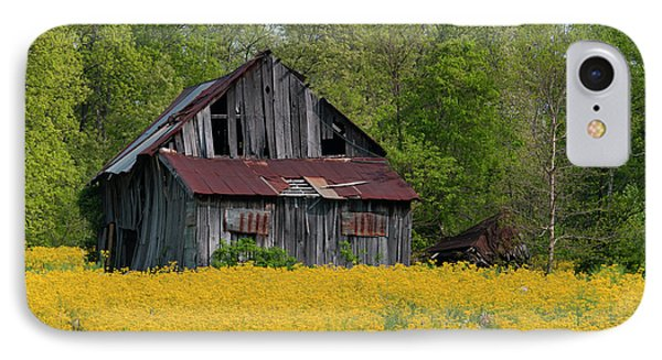 IPhone Case featuring the photograph Tired Indiana Barn - D010095 by Daniel Dempster