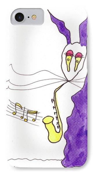 Tis Sax Lady Phone Case by Tis Art