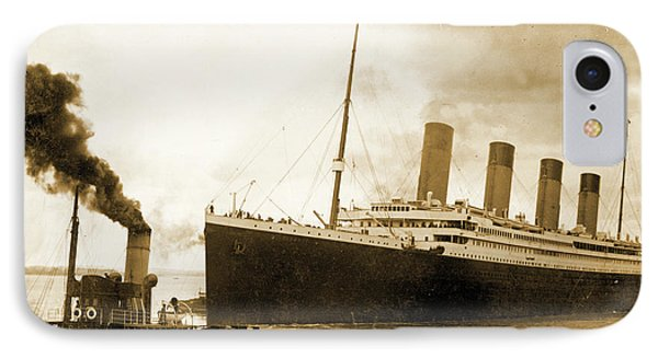 Titanic Leaving Port On It's Maiden Voyage, Circa 1912 IPhone Case by English School