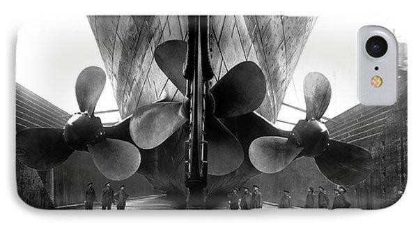 Titanic Propellers IPhone Case by Jon Neidert