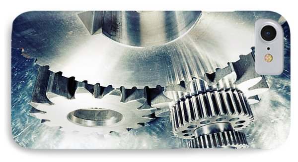 IPhone Case featuring the photograph Titanium Aerospace Cogs And Gears by Christian Lagereek