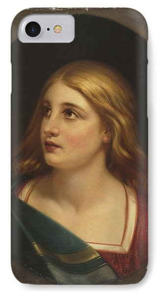 Title A Light Haired Woman IPhone Case by MotionAge Designs