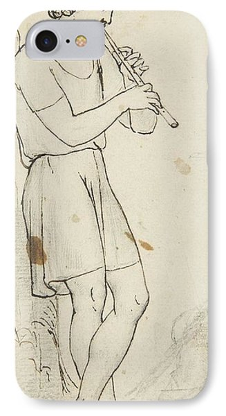 Title Youth With A Flute IPhone Case