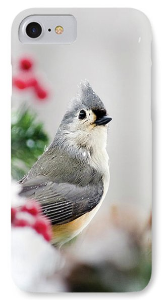 IPhone Case featuring the photograph Titmouse Bird Portrait by Christina Rollo