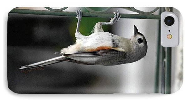 Titmouse Trickery Phone Case by DigiArt Diaries by Vicky B Fuller