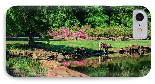 Tking A Break At The Azalea Pond IPhone Case by Tamyra Ayles