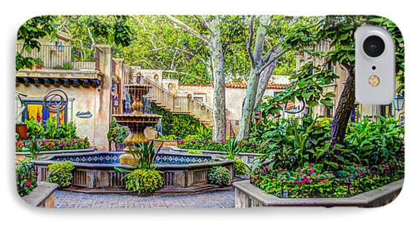 Tlaquepaque Shopping Village -  Sedona  Arizona IPhone Case by Jon Berghoff