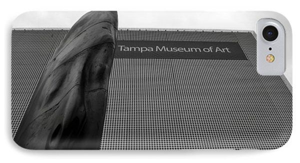 IPhone Case featuring the photograph Tampa Museum Of Art Work A by David Lee Thompson