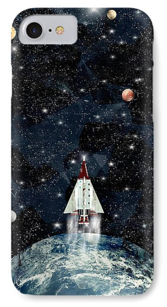 To Boldly Go IPhone Case by Bri B