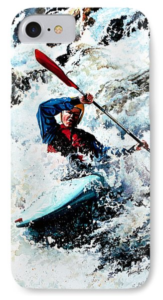 To Conquer White Water Phone Case by Hanne Lore Koehler