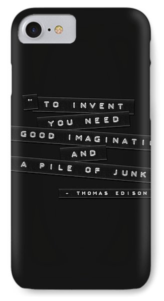 IPhone Case featuring the photograph To Invent You Need Embossed Labels by Brian Carson
