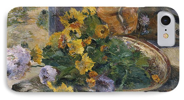 To Make A Bouquet IPhone Case by Paul Gaugin
