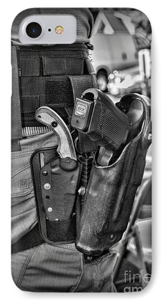 To Protect And Serve In Black And White  IPhone Case