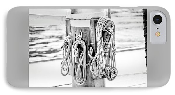 IPhone Case featuring the photograph To Sail Or Knot by Greg Fortier