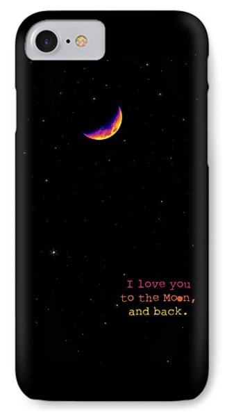 To The Moon And Back Phone Case by Rheann Earnest