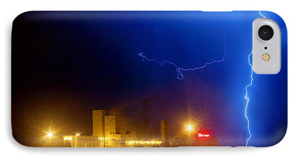 To The Right Budweiser Lightning Strike Phone Case by James BO  Insogna