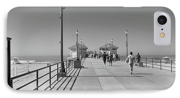 IPhone Case featuring the photograph To The Sea On Huntington Beach Pier by Ana V Ramirez