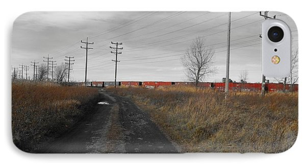 To The Trains IPhone Case by Gothicrow Images