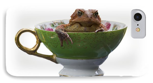 Toad In A Teacup Phone Case by Ron Jones