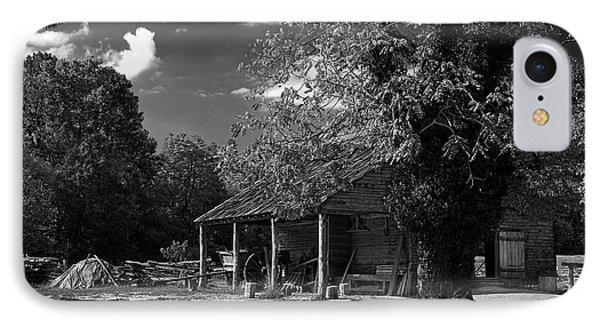 Tobacco Barn - B-w Phone Case by Christopher Holmes
