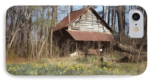 IPhone Case featuring the photograph Tobacco Barn In Spring by Benanne Stiens