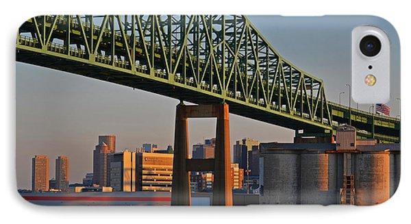 Tobin Bridge American Flag Boston Ma IPhone Case
