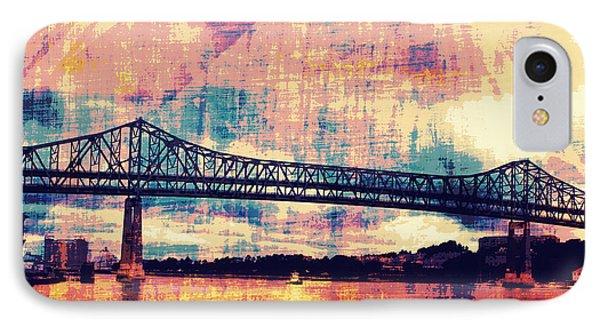 Tobin Bridge Boston Ma IPhone Case