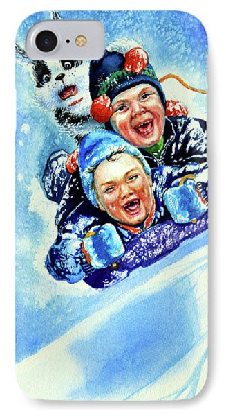 Toboggan Terrors IPhone Case by Hanne Lore Koehler