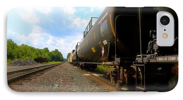 IPhone Case featuring the photograph Tobyhanna Freight Train by Iconic Images Art Gallery David Pucciarelli