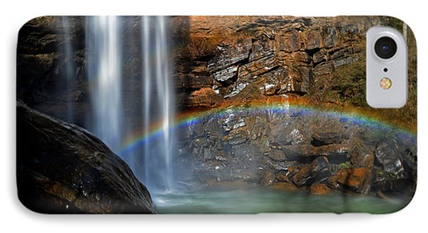 Toccoa Falls Rainbow 001 IPhone Case by George Bostian