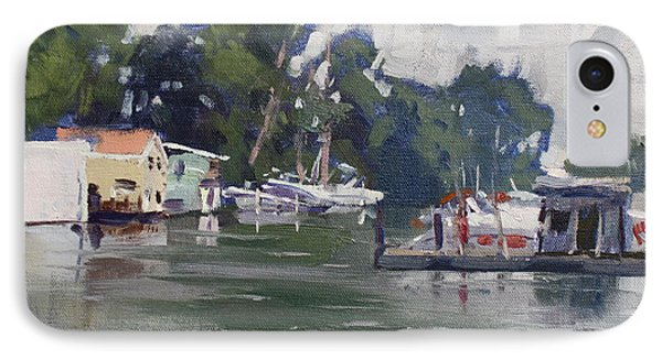 Today's Plein Air Workshop Demonstration At Wardell Boat Yard IPhone Case