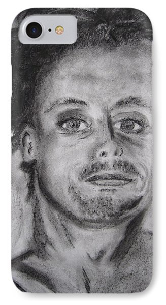 IPhone Case featuring the drawing Todd by Patricia Cleasby