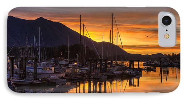 Tofino Docks Sunrise - A Tribute IPhone Case by Mark Kiver