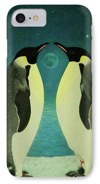 Together Under The Moon IPhone Case by Shelley Irish