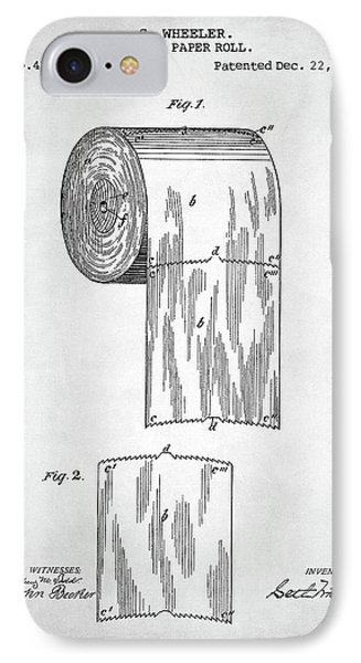 Toilet Paper Roll Patent IPhone Case by Taylan Apukovska