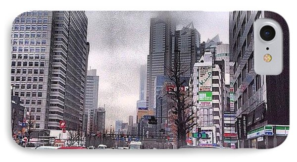 Tokyo Cloudy IPhone Case by Moto Moto